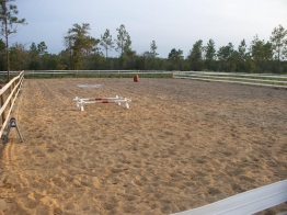 Second Arena 40 m x 80 m.  Great for working horses.
